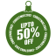 Upto 50 percent off icon