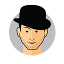 Male Avatar Bowler Hat icon