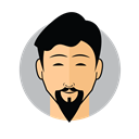 Male Avatar Goatee Beard icon