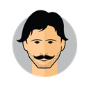 Male Avatar Mustache icon