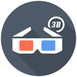 D Glasses Icon Free Flat Multimedia Iconset Designbolts