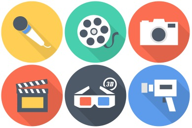 Free Flat Multimedia Icons