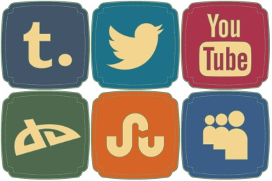 Free Retro Style Social Icons