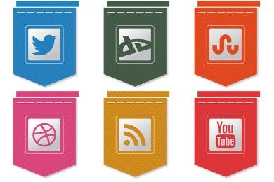 Free Ribbon Social Icons