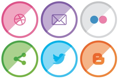Free Shaded Social Icons