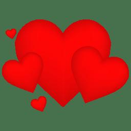 Hearts Icon Free Vector Valentine Heart Iconset Designbolts