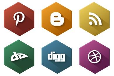 Hexagonal Social Icons