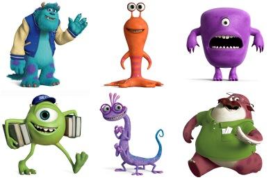 Monsters University Iconset 28 Icons Designbolts