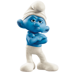 Grouchy smurf icon