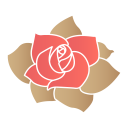 Rose flower icon