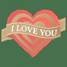 I-love-you-heart icon