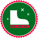 Christmas Skating Shoes icon