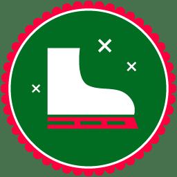 Christmas Skating Shoes icon