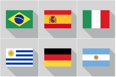 World Cup 2014 Country Flags Icons