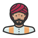 Indian man icon