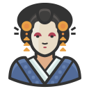 Traditional japanese woman icon