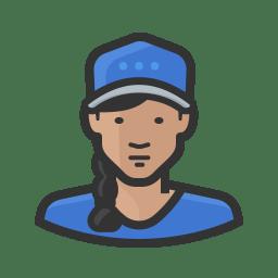Girl in ballcap icon
