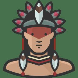 Native man icon