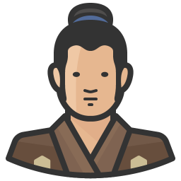 Traditiona japanese man icon