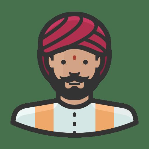 Indian man icon