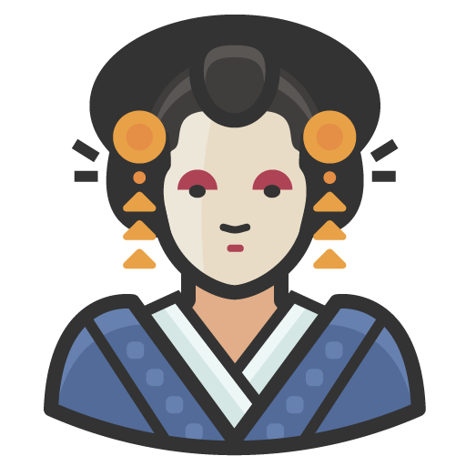 Traditional-japanese-woman icon