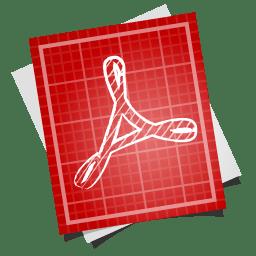 Adobe blueprint pdf symbol icon