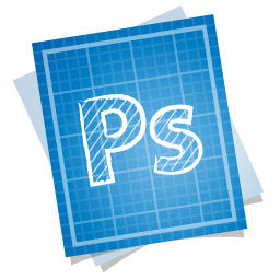Adobe blueprint photoshop icon