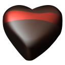 Chocolate hearts 06 icon