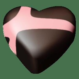 Chocolate hearts 01 icon