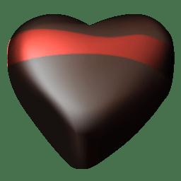 Chocolate hearts 06 icon