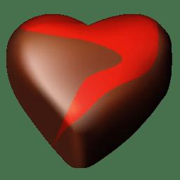 Chocolate hearts 12 icon