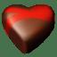 Chocolate hearts 09 icon