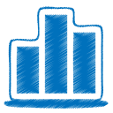 Blue chart icon