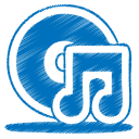 Blue music cd icon