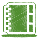Green address book icon