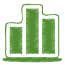 Green chart icon