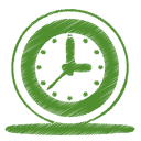 Green clock icon