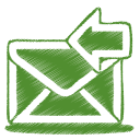 Green mail receive icon