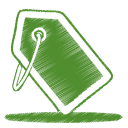 Green tag icon