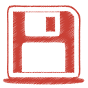 Red disk icon