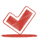 Red ok icon