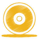 Yellow cd icon