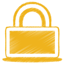 Yellow lock icon