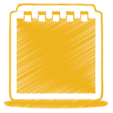 Yellow notes icon