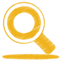 Yellow search icon