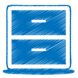 Blue archive icon