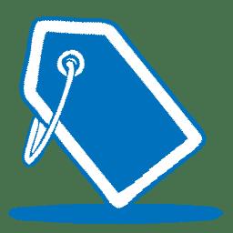 Blue tag icon
