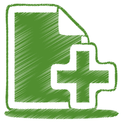 Green document plus icon