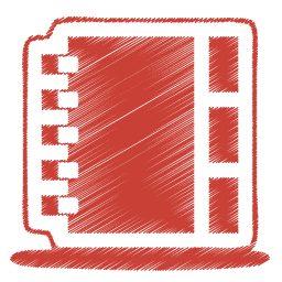 Red address book icon