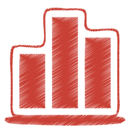 Red chart icon